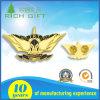 3D最もよい蝶クラッチが付いている金で塗られる絶妙で豪華なデザインバッジ