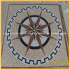 Motif de mosaïque en travertin et marbre naturel bon marché pour la décoration de sol