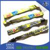 Bracelets de tissu personnalisés par polyester coloré fait sur commande de tissu d'amitié/bracelet tissé d'amorçage/bracelet tissé d'amorçage