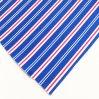 Königliches Blau-Baumwollstreifenleiter 100% Vorhang-Gewebe für Hotel