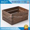 Embalajes de madera oscuros de Brown de la insignia de encargo