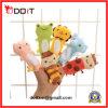 Stuk speelgoed van de Handpop van de Baby van de Stof van de pluche het Dierlijke Zachte Grappige
