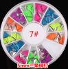 최신 Nail Art Decoration Stickers Metallic Stud Candy Colour Rivet Triangle Design 4mm