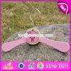 Nouveau design charmant de cintres en bois de rose pour vêtements de bébé W09b071