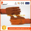Ddsafety 2017 gants oranges de Woking de toile, points de PVC