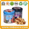 Grabado alrededor del alimento del metal puede el rectángulo Nuts del estaño del almacenaje