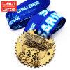 Medaglia di riciclaggio di sport della corsa della bicicletta su ordinazione poco costosa del metallo con il nastro