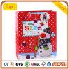 크리스마스 빨간 종이 봉지 백색 눈사람 패턴 선물 종이 봉지