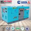 60kwディーゼル発電機の無声70kVA水によって冷却される防音の発電機の価格