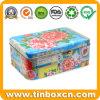 Verpacken- der Lebensmittelzacken-Studio-bunter großer rechteckiger Tee-Zinn-Kasten