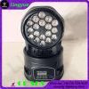 indicatore luminoso capo mobile della fase della lavata LED di 18X3w RGB