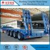 4 de Semi Aanhangwagen Lowbed van de as 60t/80t voor Op zwaar werk berekende Vervoer van de Machine
