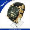Reloj modificado para requisitos particulares para los hombres con la venda del cuero genuino
