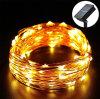 太陽エネルギーLED銅ストリングRGB 100 Ledsledストリングライト
