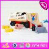 2015 Bom preço Carrinho de brinquedo de madeira para crianças, crianças de alta qualidade brinquedo de carro de madeira de fazenda, brinquedo de brinquedo brinquedo de carro de fazenda de bebê atacado W04A146