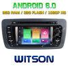 Carro DVD do Android 6.0 do núcleo de Witson oito para o assento Ibiza 2009-2013