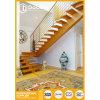 Escaleras de madera modificadas para requisitos particulares con el pasamano del acero inoxidable