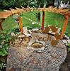 Pergola Arc-Shaped en bois composé de Foshan WPC, Nice un contexte pour le jardin