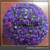 プラスチック紫色のローズの花の球のプラスチック草の球
