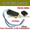 FM Recording를 가진 U Disk Voice Recorder와 Transmitter