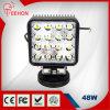 48W brillante estupendo LED cuadrado que trabaja voltaje amplio ligero de la luz 8-60V del carro del LED