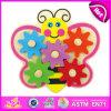 2015 het nieuwe Stuk speelgoed van het Spel van het Toestel van Jonge geitjes Houten, het Leuke Stuk speelgoed van het Spel van het Toestel van Kinderen Popualr, het Mooie Stuk speelgoed W13e033 van het Spel van het Toestel van de Vlinder van de Baby Houten