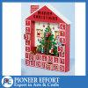 Calendario de madera del advenimiento con 24 cajones para el regalo de la Navidad