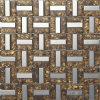 Trio de ouro laminado de vidro na parede do Mosaico de Imagens