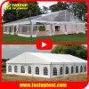 Роскошный белый Избавьтесь от раздражающего ясно прозрачные алюминиевая рама PVC Свадебное событие палатку с бегущей строкой навес