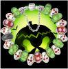 Braccialetto d'argento Af01 del branello di fascino di Halloween