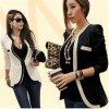 Estilo coreano de moda Slim Fit mujeres trajes de negocios (50175)