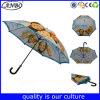 昇進の防風のデジタル印刷のロゴのまっすぐな傘によってカスタマイズされる傘