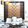 Formaldehído-Free casero Leather Wall Covering 3D Soft Wall Panel de Decoration