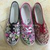 最も熱い女性のズック靴の平らな靴の偶然靴(HP010)