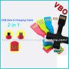 Cabo de 2015 dados flexível novo do USB para o iPhone, Samsung