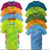 Adapter les pièces en t à séchage rapide de sports d'hommes respirables de polyester/Spandex