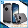 Pinsel-Satin-Verteidiger-Fall für iPhone X