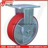 4 Zoll-bis 6 Zoll-Form auf PU-seitliche Bremsen-örtlich festgelegten Fußrollen