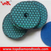 100mm Velcro Backing Flexible Dry Polishing Pad