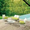 Sofá ao ar livre de vime da mobília do Rattan branco barato luxuoso