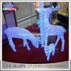 Напольный свет Acrylic северного оленя рождества СИД пользы 3D акриловый