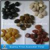 Poli noir, blanc, jaune et rouge de cailloux Stone