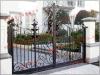 Puertas del doble del jardín del hierro labrado
