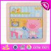 As crianças do Novo Produto 2015 puzzles de madeira brinquedo, puzzles Madeira Personalizados Toy, transporte de baixa venda quente de brinquedos brinquedos de quebra-cabeças de madeira W14C197