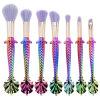 3D 7pcs Mermaid maquillaje cosméticos Cepillos pincel Eyeliner Eyeshadow colorete Esg10502 cepillos