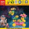 Brinquedo do enigma da criança DIY 3D com flor