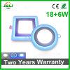 Blue+White rotondo messo (18+6) indicatore luminoso di comitato di W LED