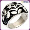 Anillo del acero inoxidable del anillo de la flor de los pares de la manera