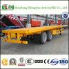 20FT Flatbed Semi die Aanhangwagen van de Container in China wordt gemaakt