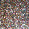 Polyester 100% Mesh Embroidery avec 7mm Multi Sequin